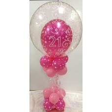 21 Pattern Bubble Balloon centrepiece