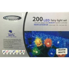 200L LED FAIRY LIGHTS WARM WHITE