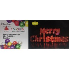 XM6108 - SOLAR LED MERRY CHRISTMAS SIGN