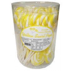 Swirl Pops - Yellow (50Pk)