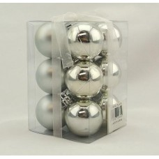 40mm Baubles Silver