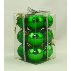 40mm Baubles Green