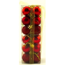 25mm Baubles Red