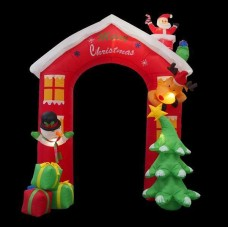 AIR POWERED SANTA HOUSE ARCH