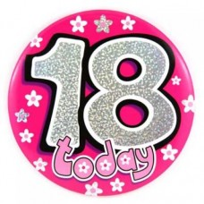 #18 Large Birthday Badge Pink