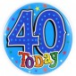 #40 Large Birthday Badge Blue